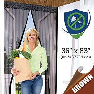 Reinforced Magnetic Screen Door – Many Sizes and Colors to Fit Your Door Exactly..