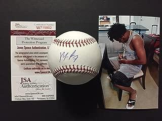 Autographed/Signed Maikel Franco Rawlings Official Major League ROML Baseball JSA COA & Photo