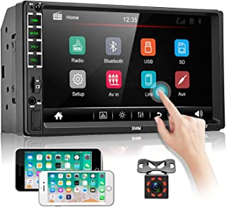 "$64 » Double Din Car Stereo Audio Receiver 7"" Touch Screen Bluetooth FM Radio Car Multimedia Player Support USB/TF/Aux-in/Hands ..."