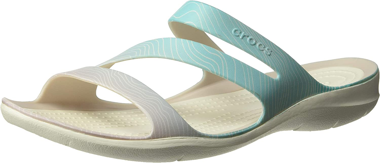 Crocs Womens Swiftwater Ombre Sandal Slide Sandal