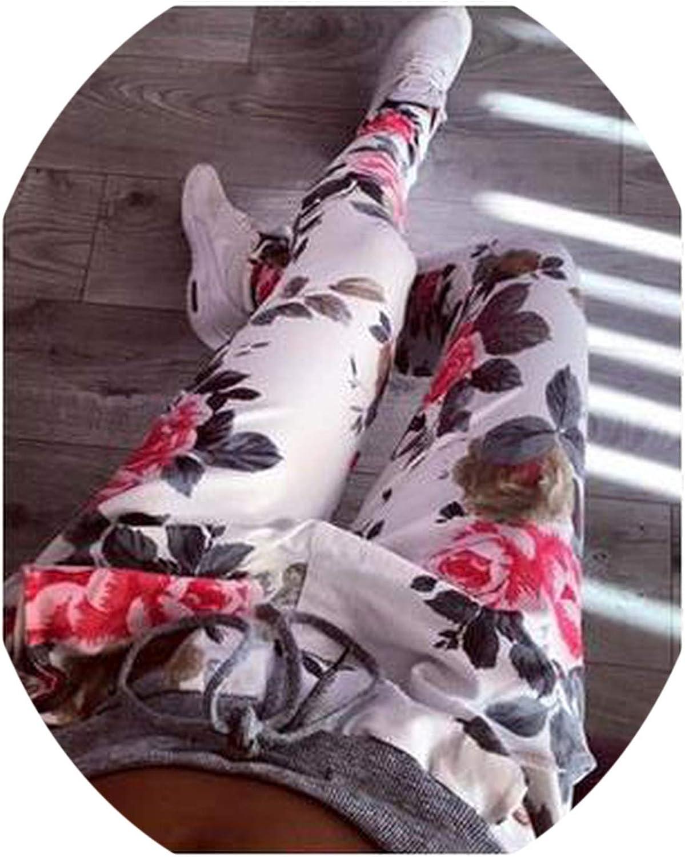 Richly Shop Women Casual Pants Flower Printed Womens Harem Pant Summer Capris Trousers
