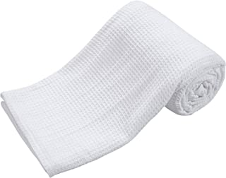 Bed Bath & Home 100% Cotton Queen Size Waffle Weave Blankets Soft Cozy Lightweight for Bed Couch Sofa White Color