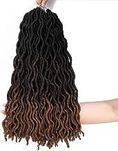 Ameli 6 Packs Wavy Gypsy Locs Crochet Hair Ombre Fauxs Locs Crochet Hair Pre-looped Goddess Locs Crochet Braiding Hair Extensions (18INCH, 1B/4/30)
