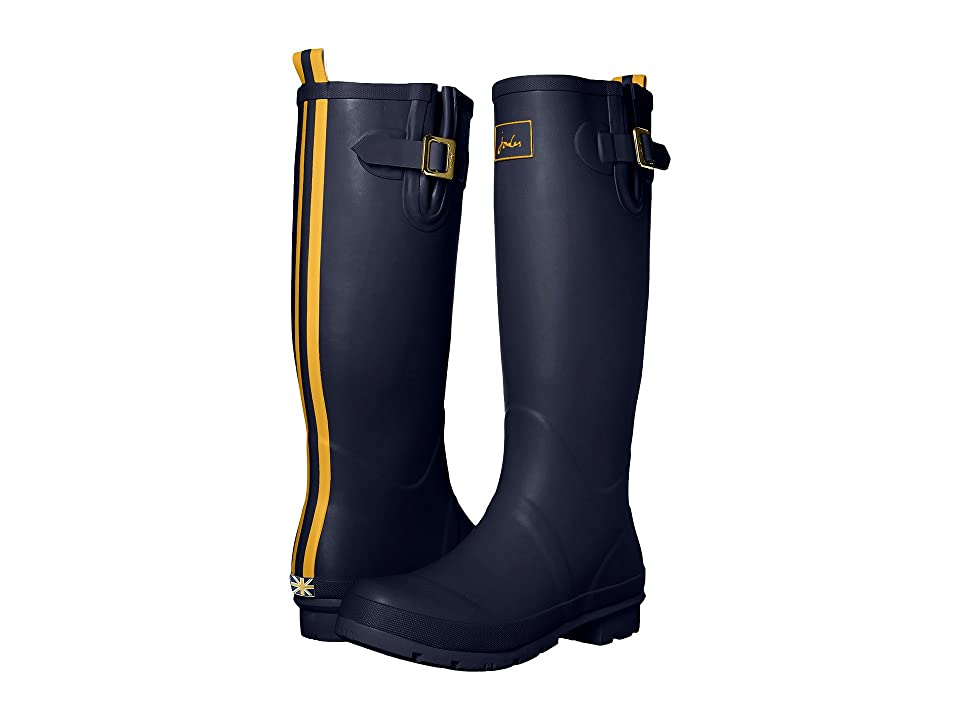 Joules Tall Field Welly (French Navy Rubber) Women