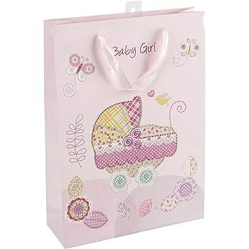 Geschenktüte 47022 Baby Geburt Papiertüte Geschenkglänzend 23 x 18 x 8 cm