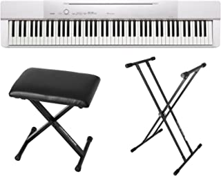 Casio PX150 White 88 Key Weighted Digital Piano w/Power Supply, Bench and Stand