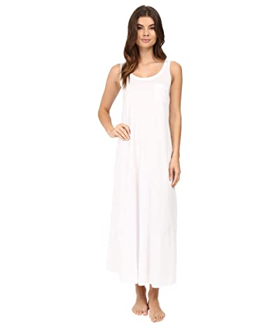 Hanro Cotton Deluxe Long Tank Nightgown (White) Women