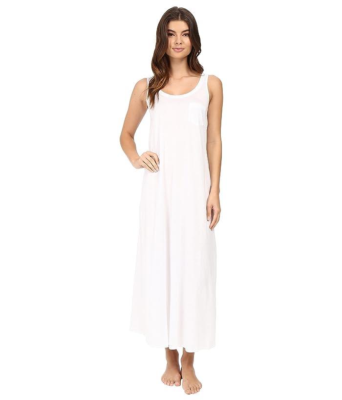 Hanro Cotton Deluxe Long Tank Nightgown (White) Women