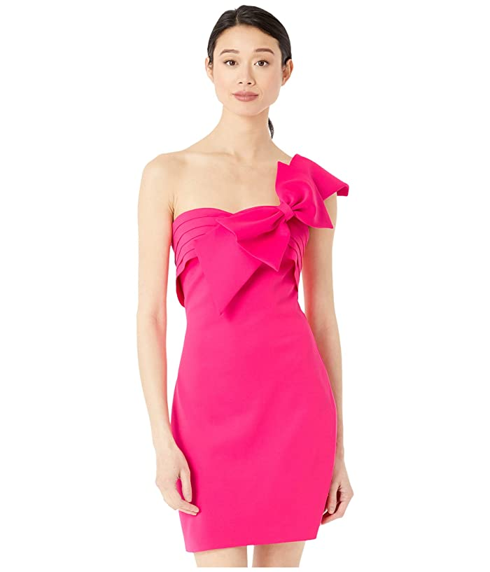 80s Prom Dresses – Party, Cocktail, Bridesmaid, Formal Badgley Mischka Strapless Bow Mini Hot Pink Womens Clothing $220.00 AT vintagedancer.com