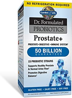 Garden of Life - Dr. Formulated Probiotics Prostate+ - Acidophilus and Probiotic Supports Healthy Prostate and Digestive Balance - Gluten, Dairy, and Soy-Free - 60 Vegetarian Capsules