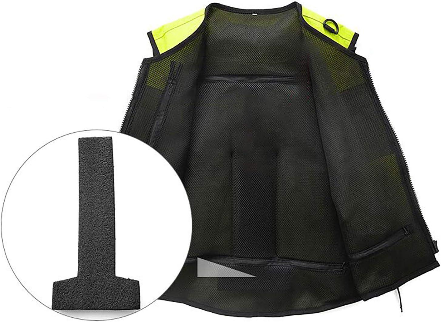 Airbag Chaleco Cremalleras Resistentes A La Abrasi/ón Es Suave Y F/ácil De Limpiar La Motocicleta De La Chaqueta De Airbag Motocicletas ATV Adecuados,1,S XLY Ciclismo Chaleco De Seguridad