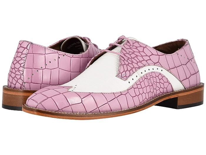 Mens Vintage Style Shoes & Boots| Retro Classic Shoes Stacy Adams Trazino LavenderWhite Mens Shoes $89.95 AT vintagedancer.com