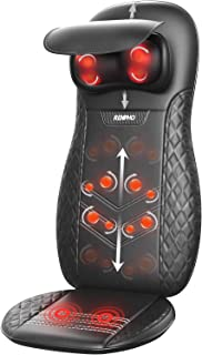 RENPHO Massage Cushion, Back Massager for Chair, Shiatsu Chair Massager with Heat for Neck, Back, Shoulders, Height Adjustable, Gifts for Parents, Use at Home & Office