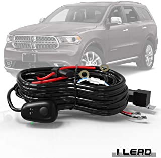 TURBOSII LED Light Bar Wiring Harness Kit 12V On off Switch Power Relay Blade Fuse for OffRoad LED Work Light Bar Fog Lights(1 lead),1 Year Warranty