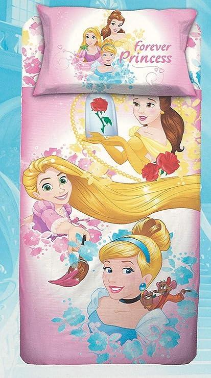 Disney Parure Sacco Copripiumino Principesse Princess Letto Singolo 1 Una Piazza 100 Cotone Sacca Federa Amazon It Casa E Cucina