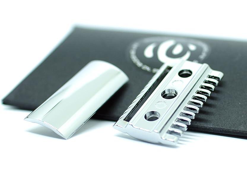 膨らみミュート一致【shin's shaving】 クロームメッキ仕上げ 高級両刃カミソリホルダー(加工精度アップ) ヘッドのみ 【コンビタイプ】 [並行輸入品]