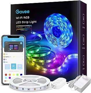 Taśma LED Govee WiFi 5m, inteligentna taśma LED RGB, sterowanie z aplikacji, zmiana koloru, synchronizacja muzyki, współpr...
