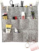 Hanging Felt Makeup Tool Organizer Bag, Mount on Wall, Pockets Toilet Wash Room, Space Saver Decorative Storage Fabric Cloth Shelves