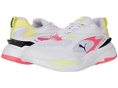 PUMA RS-Fast Pop (Puma White/Ignite Pink/Soft Fluo Yellow) Women