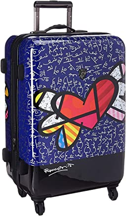 "Britto Heart with Wings 26"" Spinner"