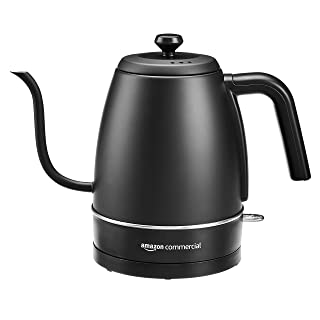 AmazonCommercial Black Stainless Steel Electric Gooseneck Kettle