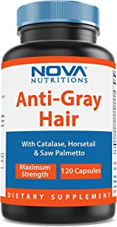 Nova Nutritions Anti-Gray Hair Formula 120 Capsules