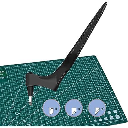 langjiao Couteau pour Loisirs Créatifs,Massicots à Lame Rotative, Outil de découpe pour papier, Scalpel de Découpe, avec 3pcs Lames Rotative à 360 (a)