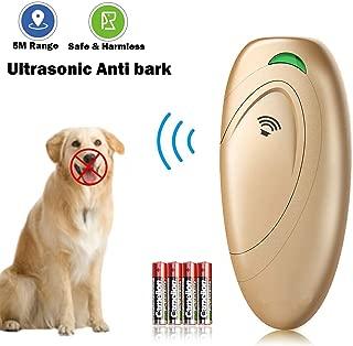 Impermeable Dispositivo de Control Ladridos al Aire Libre para Perros 50 Pies Eficaz Ultrasonic Anti Barking Device No Ladridos Hamkaw Dispositivo Anti Barking 100/% Seguro para Mascotas y Humanos