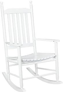 6d52384cb [casa.pro] Mecedora blanca de madera maciza – Silla para relax – para