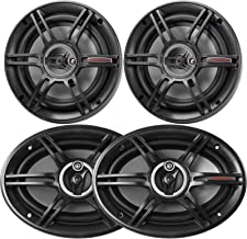 "$71 » Car Speaker Bundle: 2 x Crunch 6x9 Full Range 400W Peak Power 3-Way Car Automotive Speakers + 2 x Crunch 6.5"" 3-Way 300W M..."
