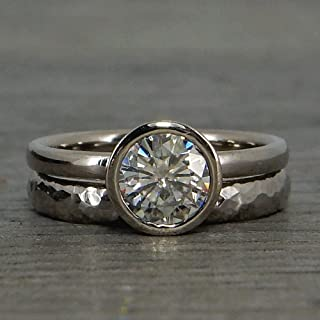 18k palladium white gold ring