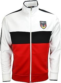 Ralph Lauren Germany Men's White Black and Red Zip Jacket