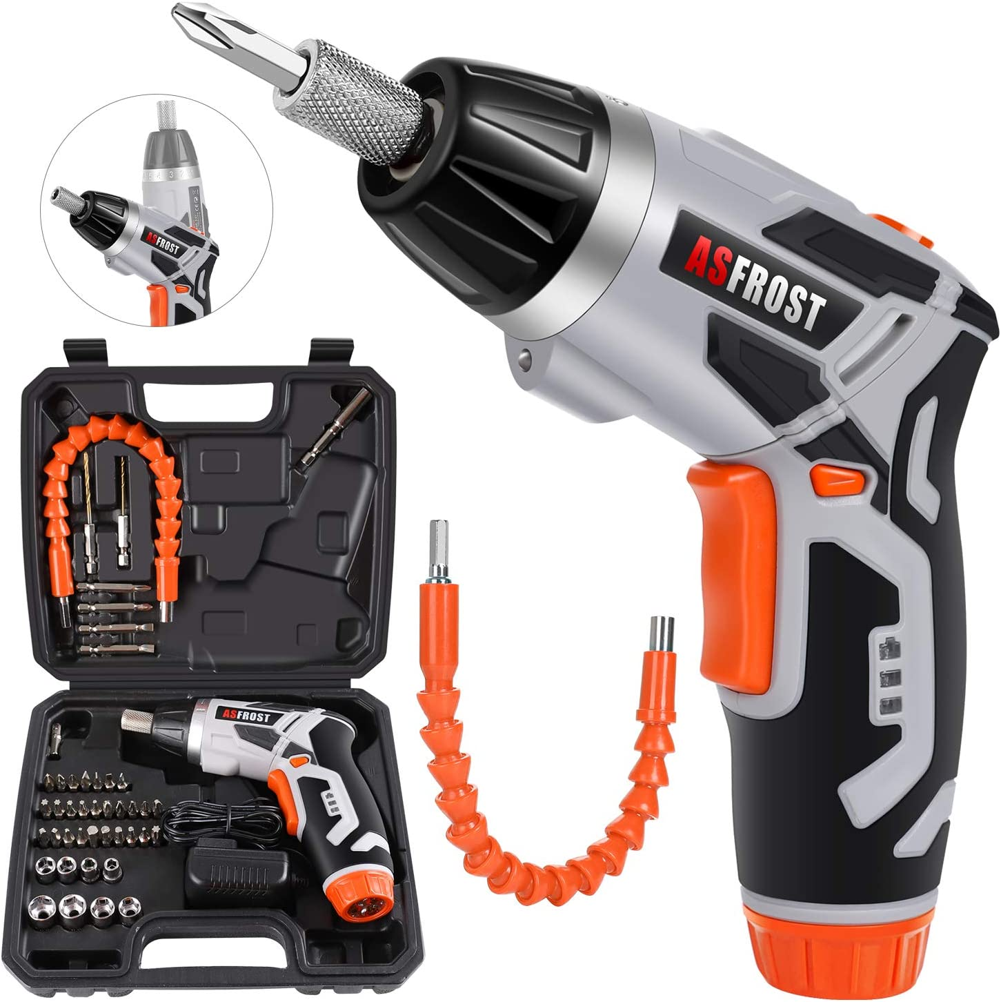 Cordless 2021new shipping free Electric Year-end gift Screwdriver AsFrost 3.6V Rechargeable 2000mAh