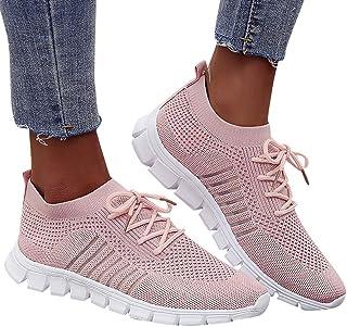 2019 Verano Primavera Zapato Deporte De Malla Transpirable Ligero Zapatillas Sneaker Con Cordones Cruzados Para Mujer Corr...