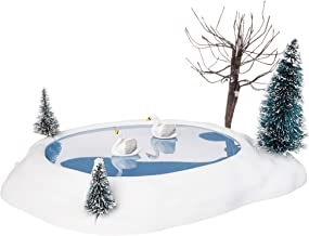 Department 56 Village Cross Product Animated Swan Pond Figurine, 10.8 Inch, Multicolor