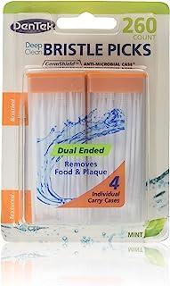 DenTek Deep Clean Bristle Picks Dual Ended, Mint 260 ea (Pack of 6)