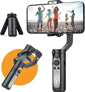 3-Axis Gimbal Stabilizer for Smartphone - 0.5 lbs Lightweight Foldbale Gimbal for iPhone 11 Pro Max/11/Xs Max/XS/XR/X, w/A...