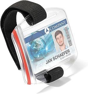Durable 841419 Boîte de 10 Porte-badges de sécurité avec Brassard ajustable 54 x 86 mm