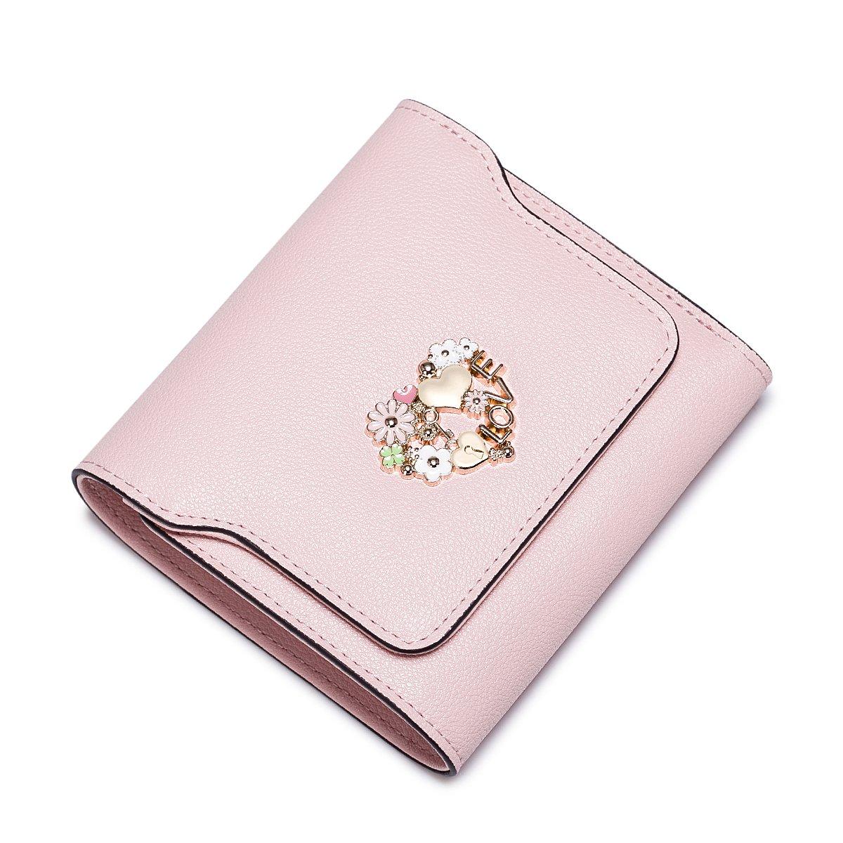 NUCELLEニュージーランド2018新しいトレンドの財布ショート韓国語バージョンのバックルの女性のファッション財布ソリッドカラーの野生の財布(口紅)