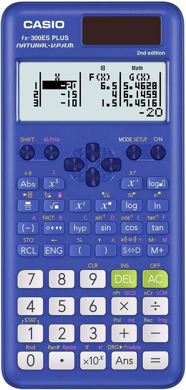 Easy-to-use Over item handling ☆ Casio fx-300ESPLS2 Blue Calculator Scientific