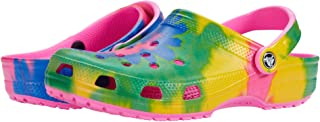 Crocs Unisex Adults Men's and Women's Classic Tie Dye Clog   Comfortable Slip on Casual Water Shoe