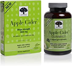 New Nordic Apple Cider Mega Strength 1000mg, 30 Tablets, and Apple Cider Gummies, 60 Count