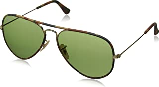 Ray-Ban Full Colour Aviator Sunglasses in Brown Canvas Camouflage RB3025JM 168/4E 58