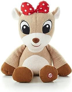 Hallmark Christmas XKT1442 Clarice® Push and Play Interactive Stuffed Animal