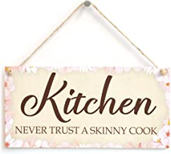 Meijiafei Kitchen Never Trust A Skinny Cook - Kitchen Sign Plaque 10