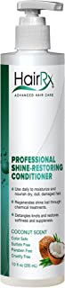 HairRx Professional Shine-Restoring Conditioner with Pump, Coconut Scent, 10 Ounce