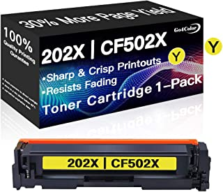 Go4Color Compatible Toner Cartridge Replacement for HP CF502X 202X CF502A 202A Toners use with HP Laserjet Pro M254dw MFP ...