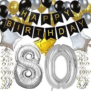 Compleanno 70 Anni 2 Pezzi Coriandoli Decorativi per Feste Colore: Oro//Nero//Argento Party Parade