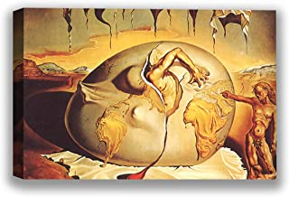 Funny Ugly Christmas Sweater Geopoliticus Child Watching The Birth of The New Man Salvador Dali Canvas Modern Artwork for Home Framed Wall Art Surrealistic Canvas 19