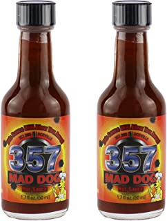Mad Dog 357 Hot Sauce Mini Travel Pack - Contains Two 1.7oz Bottles